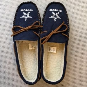 Dallas Cowboys NFL Team Colored Moccasin Slippers